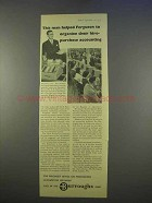 1955 Burroughs Accounting Machine Ad - Hire-Purchase
