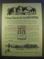 1955 The Rank Organisation Ad - The Kidnappers Movie