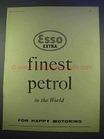 1955 Esso Extra Petrol Ad - Finest in the World
