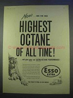 1955 Esso Extra Petrol Ad - Highest Octane of All Time