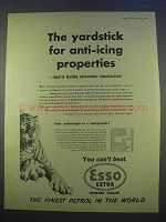 1955 Esso Extra Petrol Ad - Anti-Icing Properties
