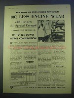 1955 BP Special Energol Visco-Static Motor Oil Ad - Less Wear