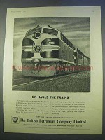 1955 BP Petroleum Ad - Hauls The Trains