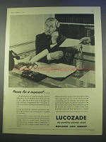 1955 Lucozade Drink Ad - Pause for a Moment
