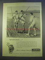 1955 Nescafe Coffee Ad - Splendid Finish