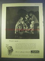 1955 Nescafe Coffee Ad - Minutes Saved