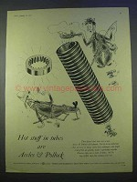 1955 Accles & Pollock Tubes Ad - Hot Stuff In Tubes