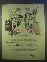 1955 ICI Drikold Ad - North Pole Comes to Hatfield