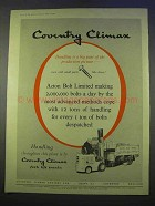 1955 Coventry Climax Fork Lift Truck Ad