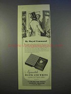 1955 Marcovitch Black and White Cigarettes Ad