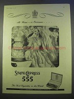 1955 State Express 555 Cigarettes Ad - Overseas