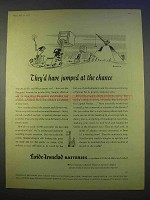 1955 Exide-Ironclad Batteries Ad - Jumped at Chance