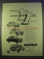 1955 Morris Minor, Cowley, Oxford Traveller Car Ad - Quality