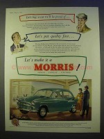 1955 Morris Car Ad - Be Proud Of