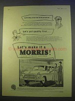 1955 Morris Car Ad - We'll Be Proud Of