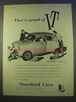 1955 Standard Ten Car Ad - They're Proud Of It