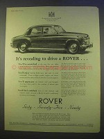1955 Rover Car Ad - It's Revealing To Drive
