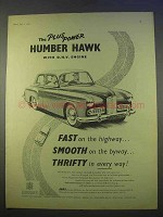 1955 Humber Hawk Car Ad - Plus Power