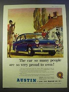 1955 Austin A90 Six Westminster Car Ad - Very Proud