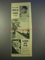 1955 Ilford HP3 Film Ad - Taking Faces & Places