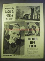 1955 Ilford HP3 Film Ad - Faces & Places