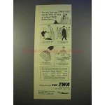 1955 TWA Airlines Ad - Reduced Thrift Season Fares