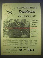 1955 BOAC Airways Ad - More World-Famed Constellations