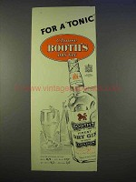 1955 Booth's Dry Gin Ad - For a Tonic