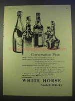 1955 White Horse Scotch Ad - Conversation Piece