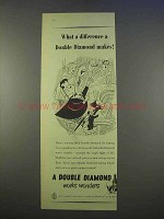 1955 Double Diamond Ale Ad - What a Difference