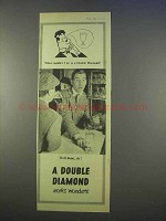 1955 Double Diamond Ale Ad - Works Wonders