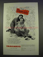 1955 Trailways Tours Bus Ad - Free Dream-Aids