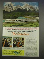 1955 Canadian Pacific Railway Ad - Scenic Dome