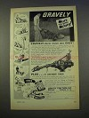 1955 Gravely Tractors Ad - More For Your Money
