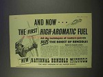 1955 National Benzole Mixture Petrol Gasoline Ad