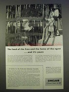 1955 Sinclair Oil Ad - The Home of the Egret