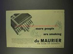 1955 Du Maurier Cigarettes Ad - People Are Smoking