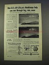 1955 General Electric All-Weather Headlamps Ad - Fog