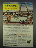 1955 Hertz Rent-A-Car Ad - Desert Inn, Las Vegas NV