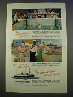 1955 Moore-McCormack Lines Cruise Ad - This Kind of Fun