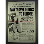 1955 TWA Airlines Ad - Travel Guides to Europe