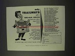 1955 Trailways Bus Ad - Thru-Bus Service