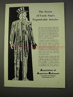 1955 Association of American Railroads Ad - Uncle Sam