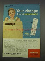1955 National Cash Register Ad - Change Figured