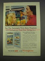 1955 Westinghouse Frost-Free Refrigerator Ad - Juice
