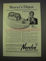 1955 Norelco Electric Shaver Ad - Shaver's Digest