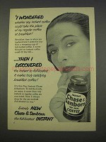 1955 Chase & Sanborn Instant Coffee Ad - I Wondered