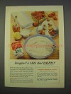 1955 Carnation Evaporated Milk Ad - A Milk that Whips!