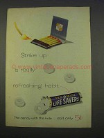 1955 Pep-o-mint Lifesavers Candy Ad - Strike Up Habit