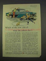 1955 Chrysler Car Ad - Do What The Others Don't